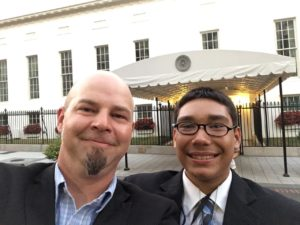 Mr. Brigham and CJ at the White House