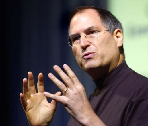 Steve Jobs speaking at Portland High School in 2002